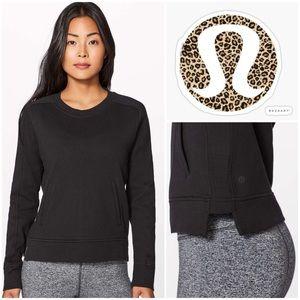 Lululemon Press Pause Crewneck Sweatshirt in Black
